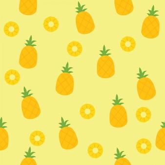 Motif d'ananas sans soudure pour textile ou papier peint