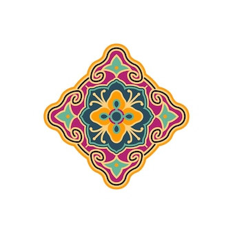 Motif ancien tissé ou tatouage traditionnel logo ethnique inspiration