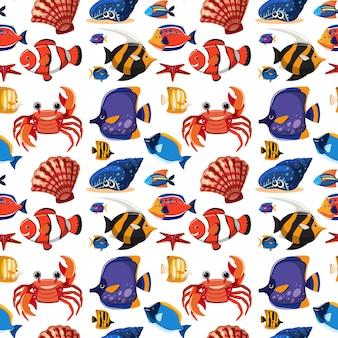 Motif d'animaux marins