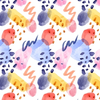 Motif aquarelle abstrait coloré