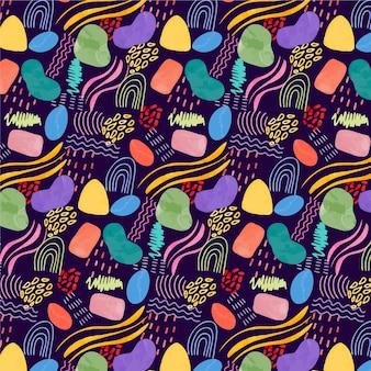 Motif aquarelle coloré abstrait