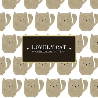 Motif aquarelle lovely cat