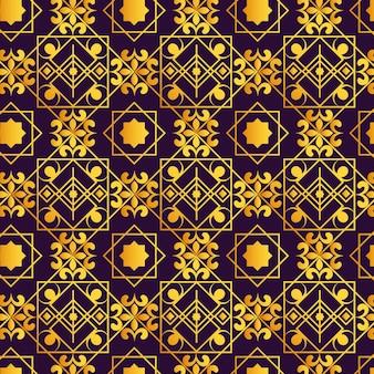 Motif arabe dégradé doré