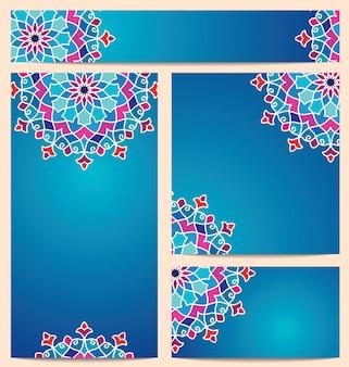 Motif arabe rond coloré beau vecteur