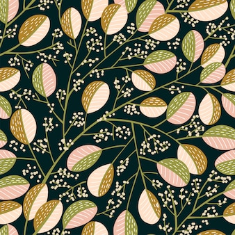 Motif d'arbre de printemps sans soudure