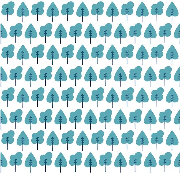 Motif d'arbres sans soudure
