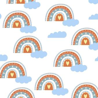 Motif arc-en-ciel sans couture dans un style bohème