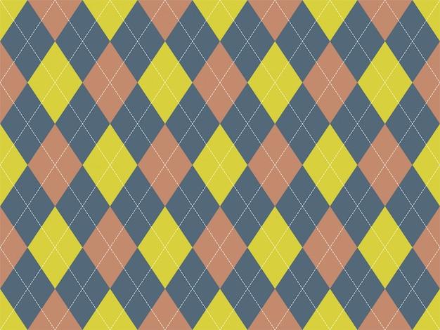 Motif argyle sans soudure. fond de texture de tissu. ornement d'argile classique