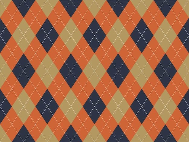 Motif Argyle Sans Soudure. Fond De Texture De Tissu. Ornement De Vecteur Argill Classique Vecteur Premium