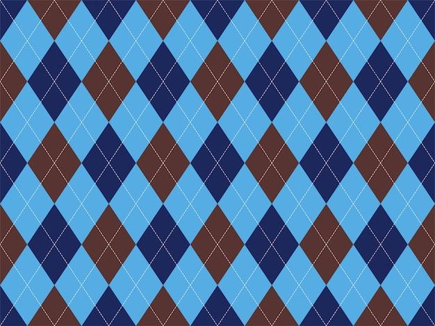 Motif argyle sans soudure. tissu et textile.