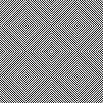 Motif d'art carré diagonal noir et blanc.