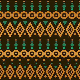 Motif aztèque coloré sans couture. motif simple dans les couleurs marron, vert et orange. idéal pour le papier peint, les cartes et le textile.