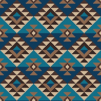 Motif aztèque tribal traditionnel