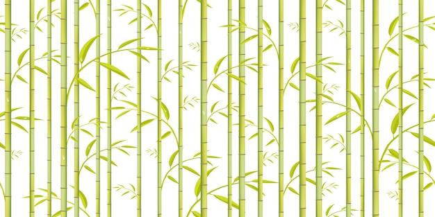 Motif en bambou. fond d'arbre vert.