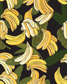 Motif banane jaune noir