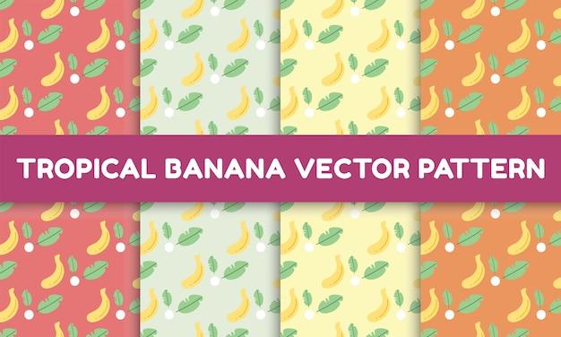 Motif de banane tropicale
