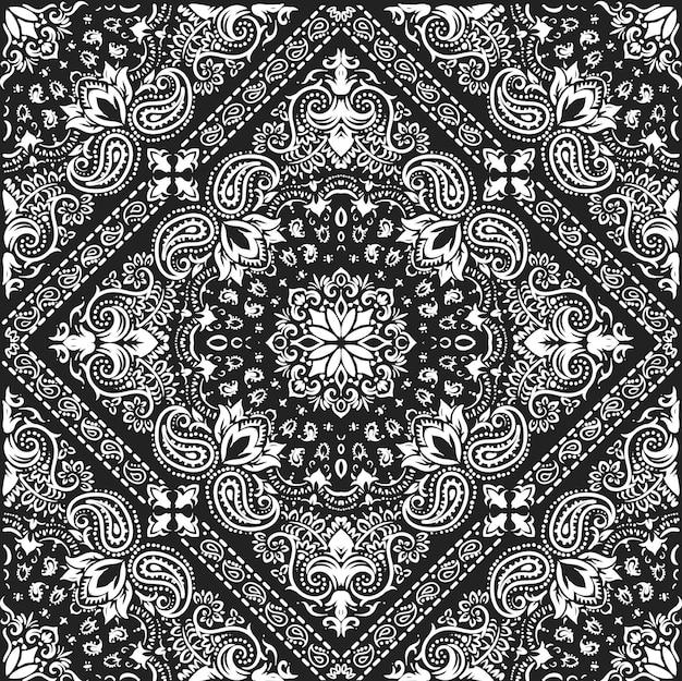 Motif de bandana floral