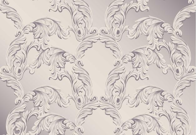 Motif baroque pour invitation, mariage, cartes de voeux. illustration décors d'ornement à la main