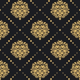 Motif baroque victorien. style damassé de conception rétro de fond.