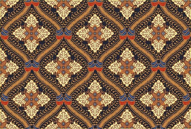 Motif batik indonésien dans des designs de couleurs modernes