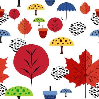 Motif bébé automne multicolore tendance hipster