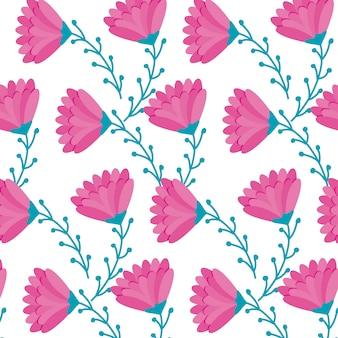 Motif de belles fleurs naturelles