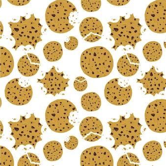 Motif de biscuits aux pépites de chocolat à l'avoine