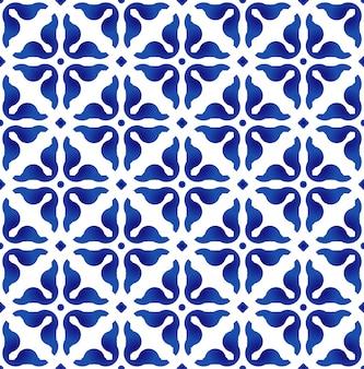 Motif bleu et blanc,