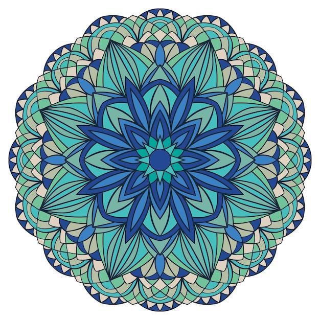 Motif bleu indien ornement élégant oriental