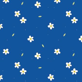 Motif bleu avec de jolies fleurs