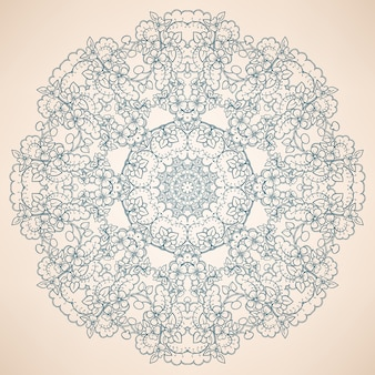 Motif bleu naturel rond