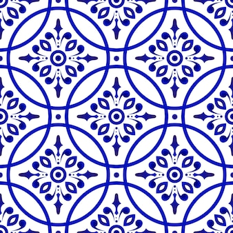 Motif bleu transparent floral