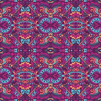 Motif boho ethnique en mosaïque pour tissu. modèle sans couture vintage mosaïque géométrique abstraite ornementale.