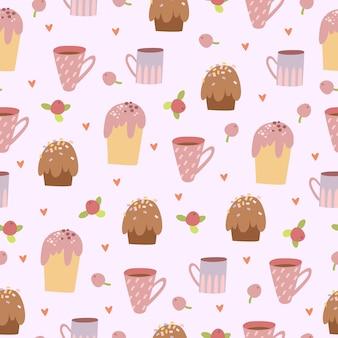 Motif de bonbons pastel