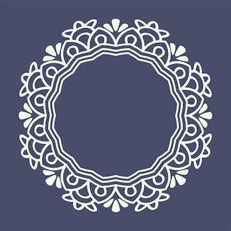 Motif de bordure en dentelle pour la mode boutique