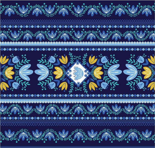Motif de bordure florale