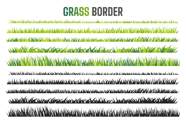 Motif de bordure de prairie pelouse verte au printemps le concept de prendre soin de l'écosystème mondial