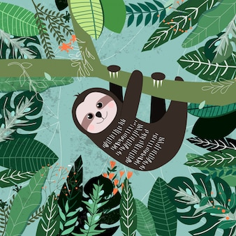 Motif botanique de feuilles vert tropical, concept de jardin