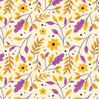 Motif botanique avec des fleurs
