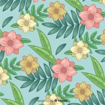 Motif botanique vintage