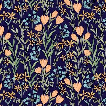 Motif bouquet de marguerites de nuit