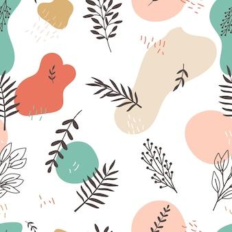 Motif de branches florales