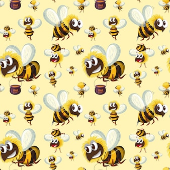 Motif bumble bee sans couture