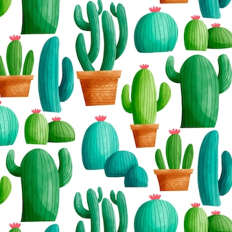 Motif de cactus coloré