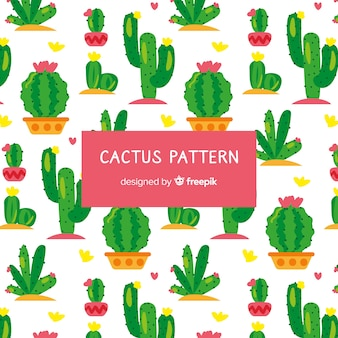 Motif de cactus dessiné à la main
