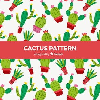 Motif de cactus plat