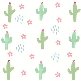 Motif de cactus sans couture