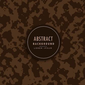 Motif de camouflage abstrait dans l'ombre brune