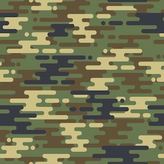 Motif de camouflage sans couture en forme de courbe