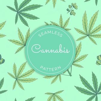 Motif de cannabis sans couture